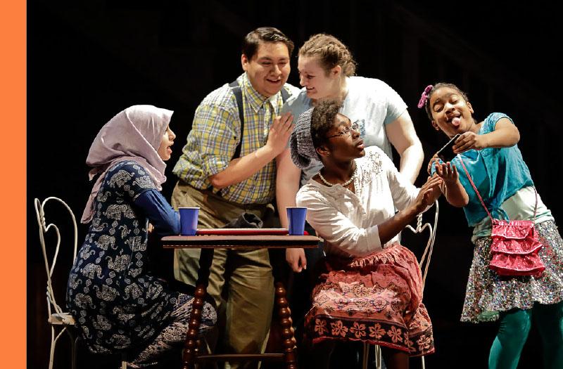 Children performing at the Flint Repertory Theatre